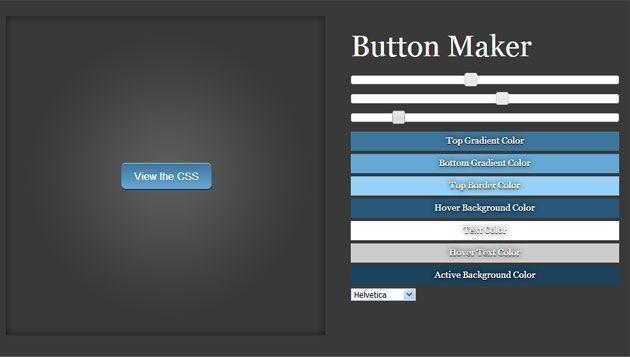 Красивые кнопки на CSS3 | Инструмент CSS3 Button Maker