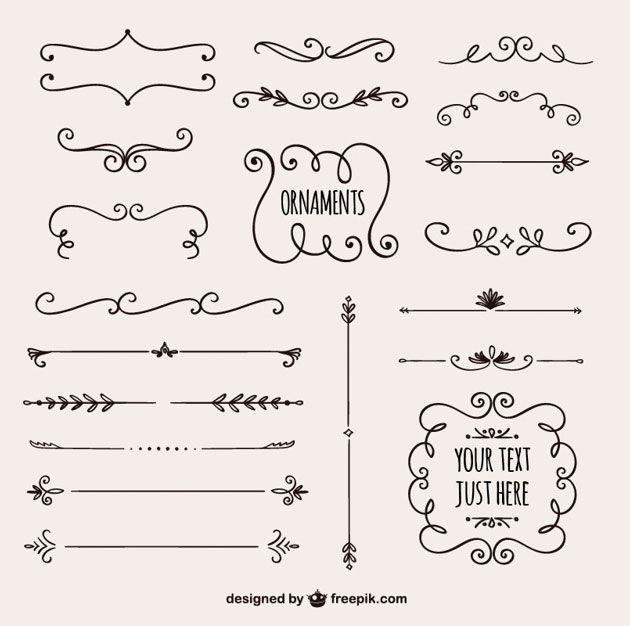 Коллекция красивых каллиграфических разделительных линий для сайта
