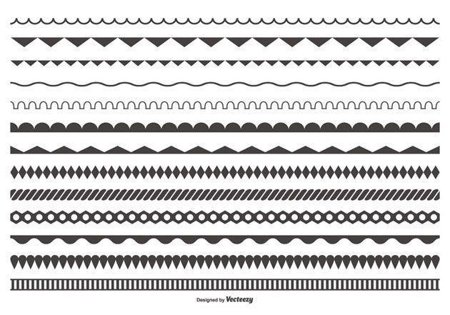 Декоративные разделительные линии на сайт, нарисованные от руки 2