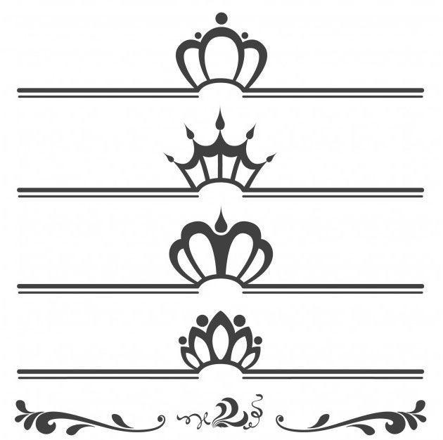 Разделительные линии для сайта с короной по центру