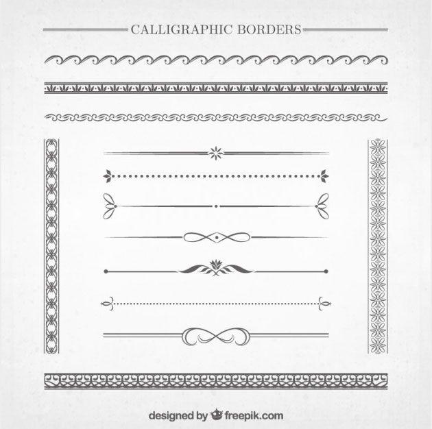 Коллекция красивых каллиграфических разделительных линий для сайта 2