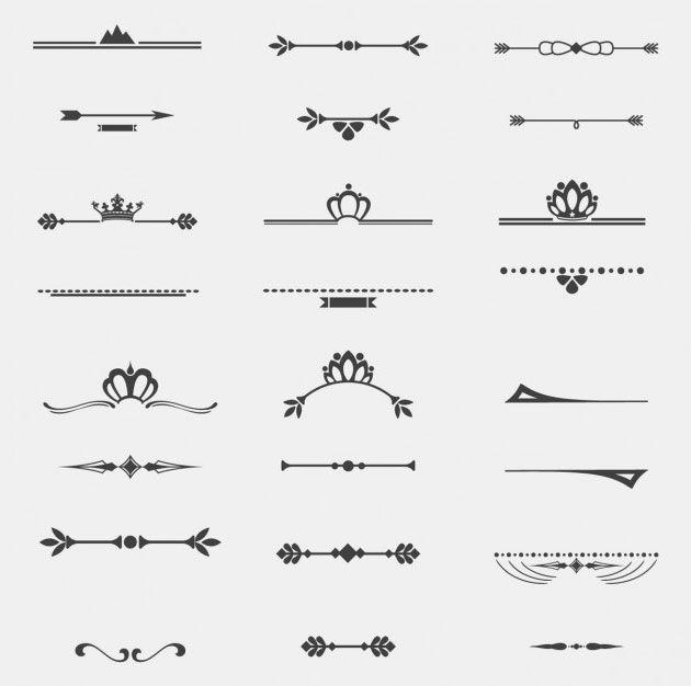 12 винтажных разделительных линий на сайт