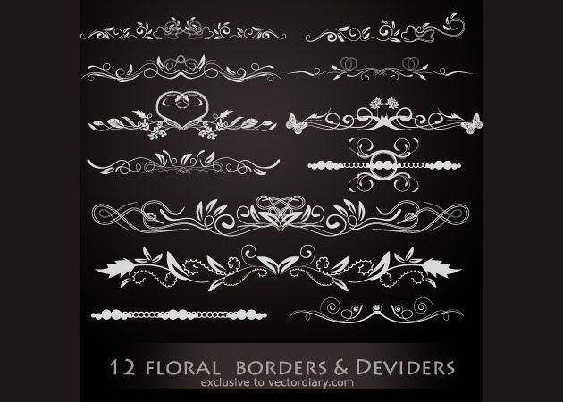 12 цветочных разделительных линий для вашего сайта