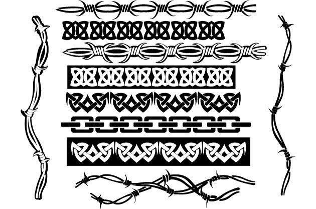 Классные разделительные линии на сайт в виде орнаментов и колючей проволоки