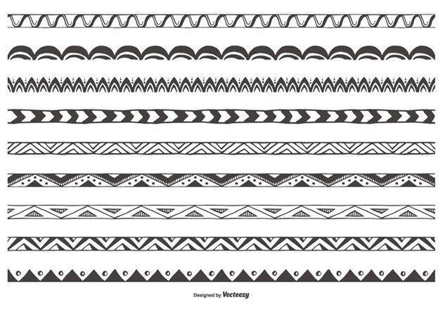 Декоративные разделительные линии на сайт, нарисованные от руки