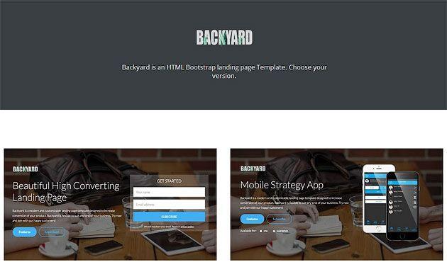 Backyard — красивый шаблон одностраничника с высокой степенью конверсии