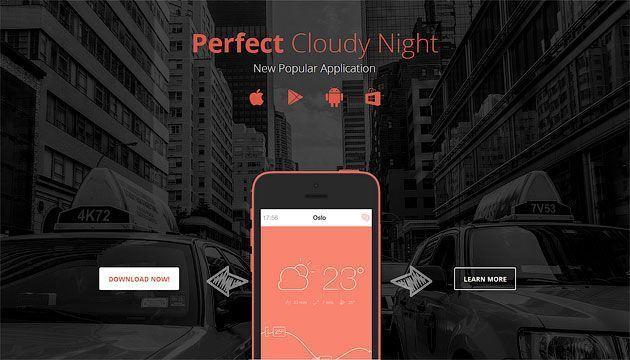 SevenApp — красивый и бесплатный шаблон одностраничника для мобильного приложения
