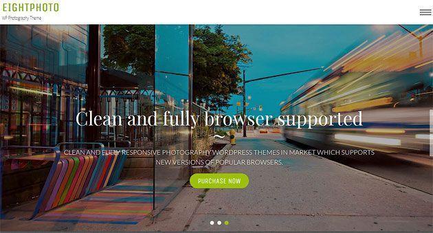 EightPhoto — красивый, чистый и элегантный шаблон сайта одностраничника на WordPress