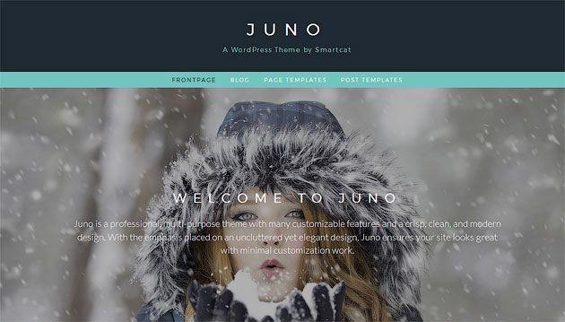 Juno — профессиональный, многоцелевой шаблон одностраничного сайта