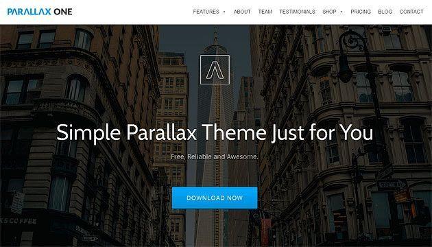 Parallax One — простой и изящный шаблон одностраничного сайта