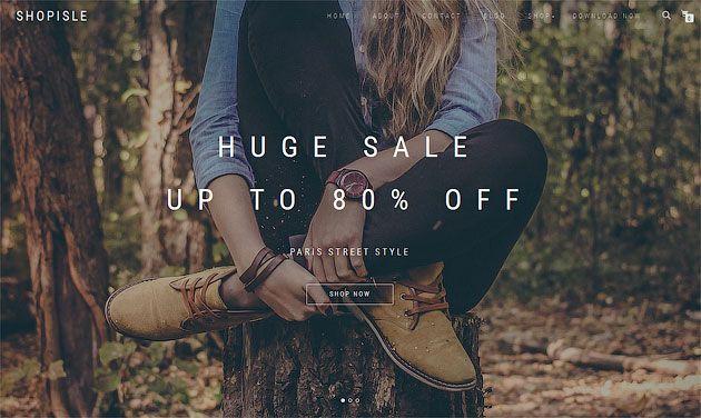 ShopIsle — удивительный и современный шаблон одностраничника для интернет-магазина