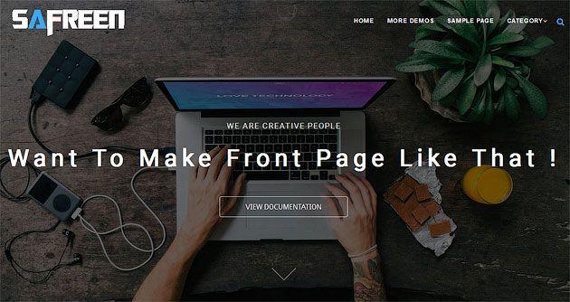Safreen — супер плоский дизайн и отзывчивый одностраничный шаблон сайта