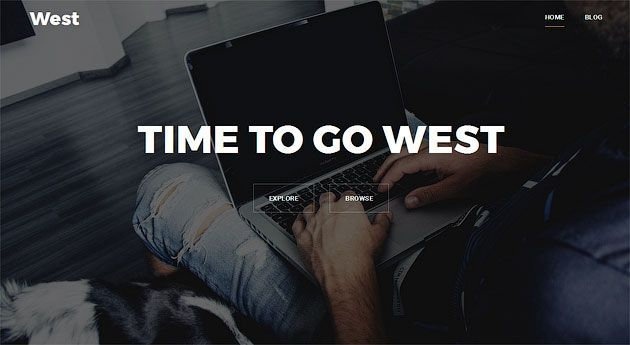 West — гибкий бизнес-шаблон одностраничного сайта