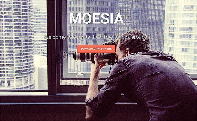 Moesia — яркий и отзывчивый шаблон одностраничного сайта с интересной анимацией