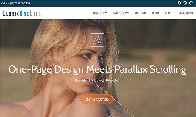 Llorix One Lite — лучший бесплатный одностраничный шаблон сайта на WordPress