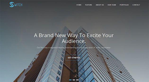 Switch — трендовый шаблон одностраничного сайта на WordPress