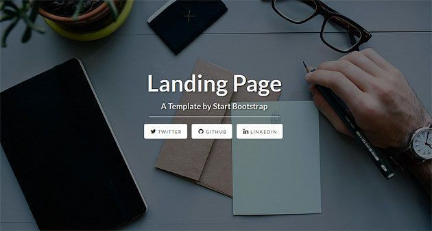 Landing Page — простой, отзывчивый и элегантный шаблон одностраничного сайта на Bootstrap 4