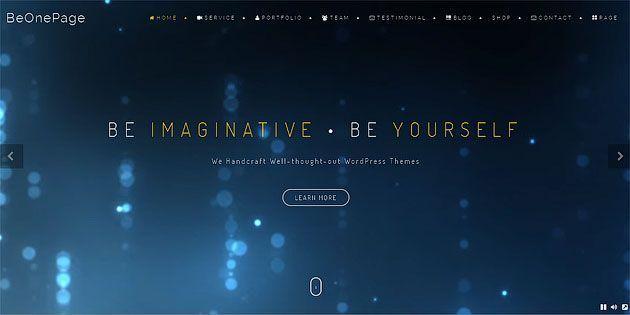 BeOnePage — профессиональный шаблон одностраничного сайта для  WordPress