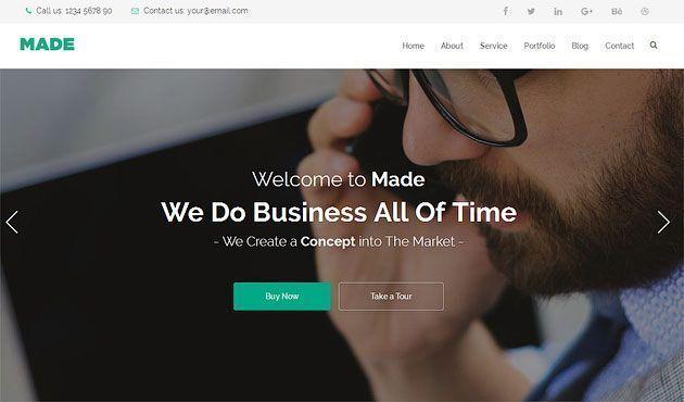 Made One — бесплатный шаблон одностраничника на HTML5