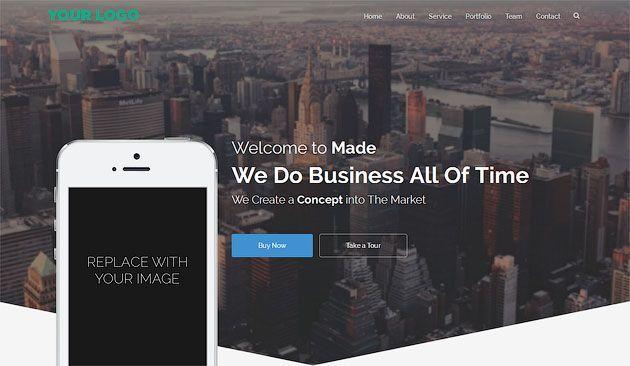 Made Two — бизнес шаблон для одностраничного сайта 2017