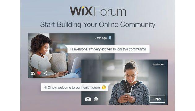 Приложение Wix Forum