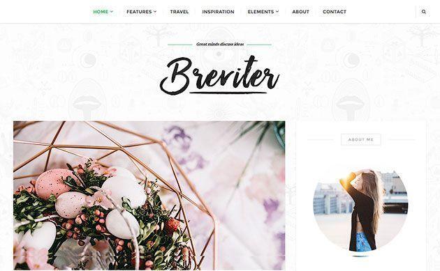 Breviter — уникальный, профессиональный и бесплатный шаблон WordPress для блоггеров