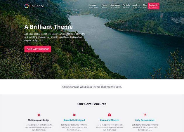 Brilliance — динамичный и отзывчивый шаблон WordPress