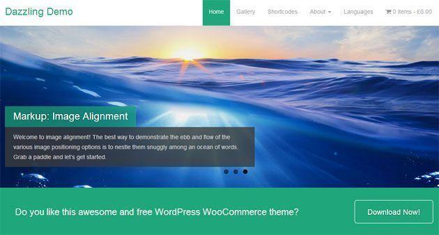 Dazzling — чистый, современный и отзывчивый шаблон WordPress