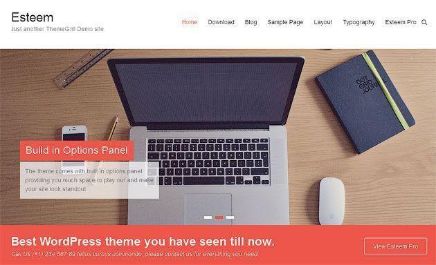 Esteem — чистый и свежий, универсальный шаблон WordPress