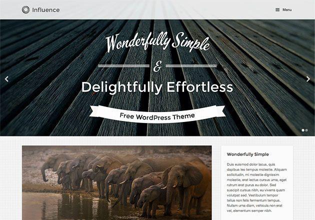 Influence — простой и универсальный шаблон WordPress