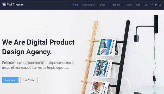 Flat Theme — универсальный, отзывчивый и яркий шаблон WordPress