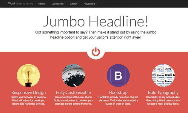 Ward — легкий и отзывчивый HTML5 шаблон WordPress