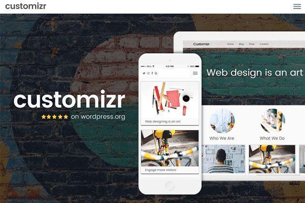 Customizr — универсальный и простой профессиональный шаблон WordPress