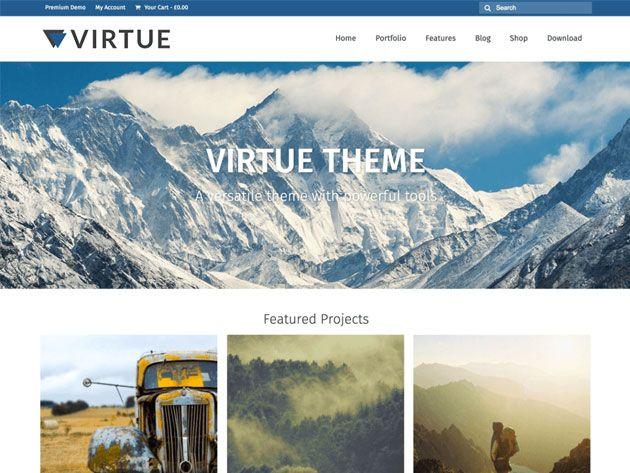 Virtue — замечательный адаптивный шаблон WordPress