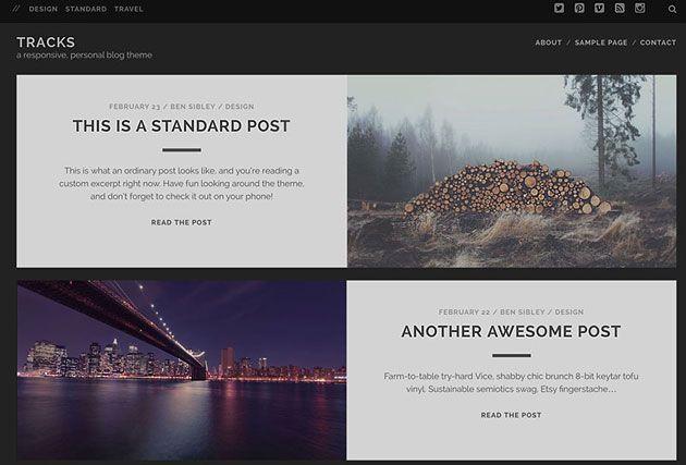 Tracks — идеальный шаблон WordPress для личного сайта или блога