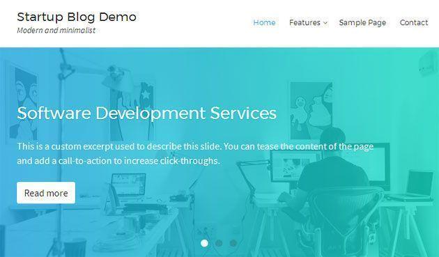 Startup Blog — современный и минималистский шаблон WordPress для блога
