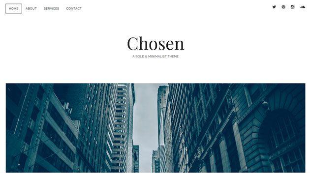 Chosen — смелый и минималистский шаблон WordPress