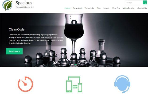 Spacious — многофункциональный отзывчивый шаблон WordPress
