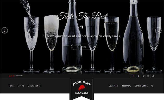 FoodHunt — ресторанный шаблон WordPress