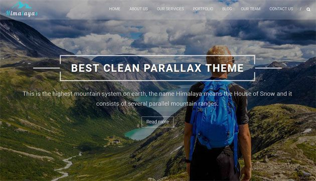 Himalayas — стильный шаблон одностраничника на WordPress