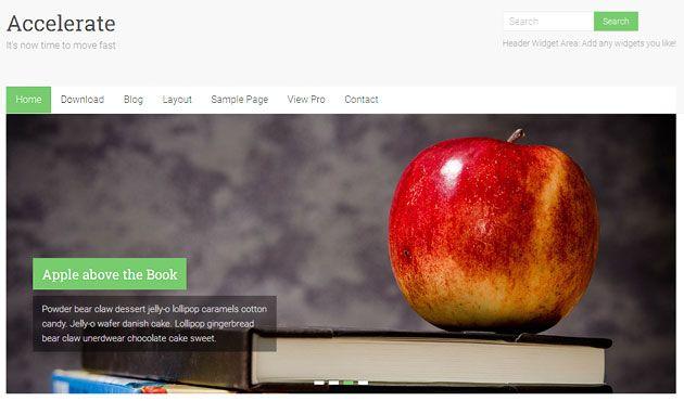 Accelerate — многофункциональный, универсальный шаблон WordPress