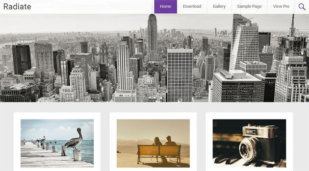 Radiate — отличный отзывчивый шаблон WordPress для персонального блога
