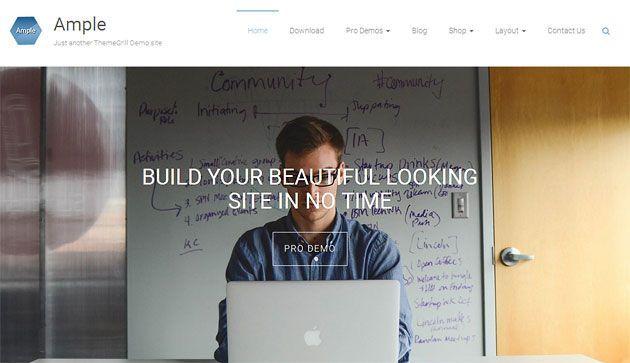 Ample — многоцелевой отзывчивый шаблон WordPress для бизнес сайтов