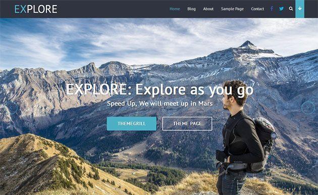 Explore — простой, отзывчивый и многофункциональный шаблон WordPress