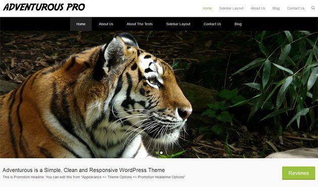 Adventurous — простой, чистый и отзывчивый шаблон WordPress