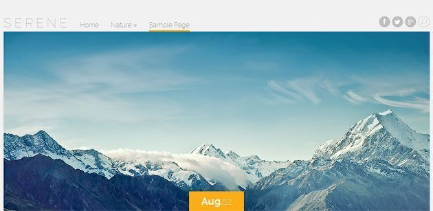 Serene — элегантный и стильный шаблон WordPress