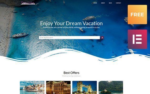 Tourizto lite — простой и функциональный шаблон сайта для туристической компании