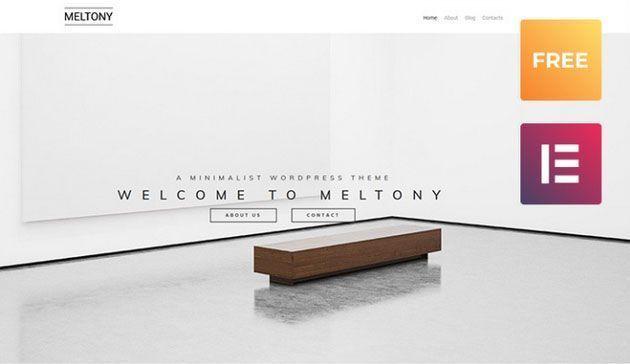 Meltony lite — элегантный и стильный многоцелевой шаблон сайта на WordPress в духе минимализма