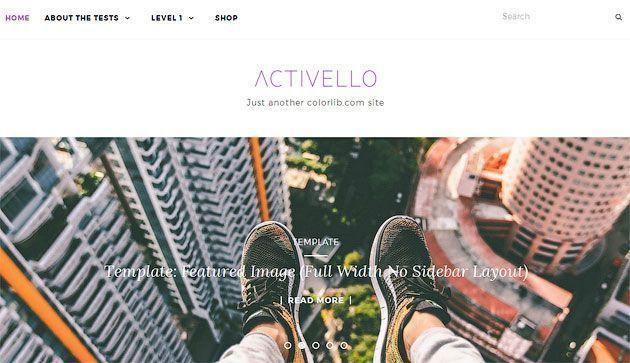 Activello — простой многоцелевой шаблон WordPress для блогов