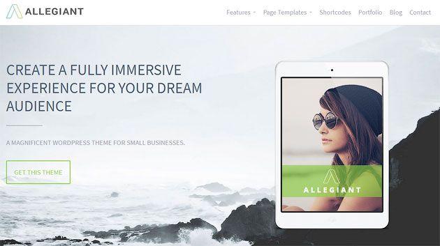 Allegiant — бесплатный многоцелевой одностраничный шаблон WordPress